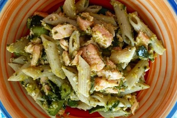 Ricette piatto unico dietaokit Penne con salmone e zucchine 2
