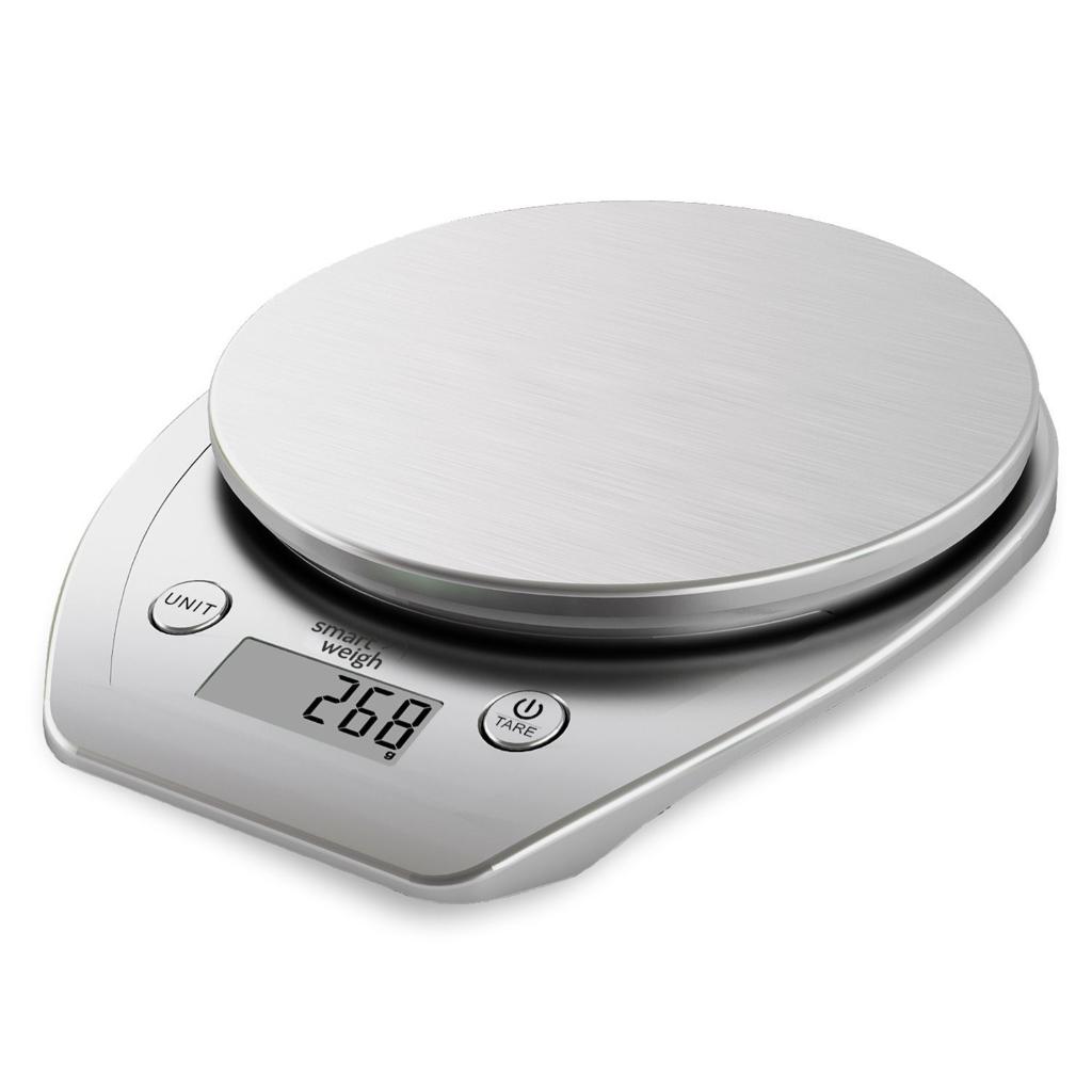Smart Weigh Bilancia multifunzione da 11lb_kg per cucina e cibo, Piattaforma in acciaio inossidabile, Grande schermo LCD, (Argento)_ Amazon.it_ Casa e cucina dietaokit