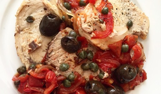 Ricette secondi piatti pesce spada pomodori olive e capperi  dietaok